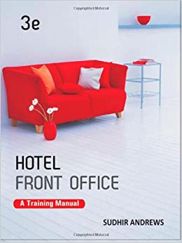 Hotel Front Office A Training Manual Sudhir Andrews border=