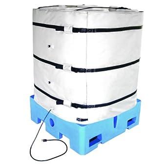 BriskHeat TOTE421-ADJ (IBC) Tote Wrap-Around Tote Tank Heater Bulk Container Heater, Min/Max: Perimeter: 160/192-Inch, Height: 42-Inch, 120VAC