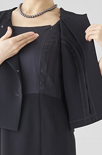 4646aa3b45dc2 ... (セルニーナ) Cellnina 喪服 レディース 礼服 大きいサイズ 前開き ロング丈 テーラージャケット ブラック ...