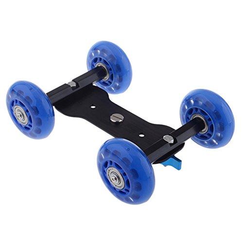 Neewer® Mobile Rolling Slider Dolly Car Skater for Speedlite DSLR Camera Camcorder Rig with 350oz/10kg Load Capacity