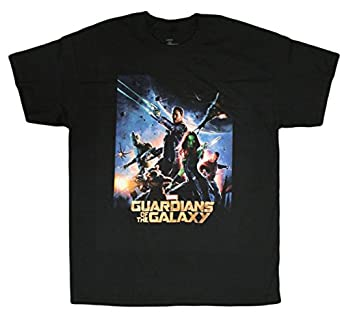 Official Licensed Guardians of the Galaxy Movie Poster Men's T-Shirt (Small)