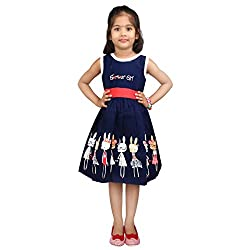 Hawai Navi Blue Girl Frock