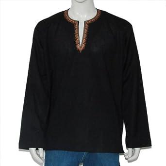 Abendkleider Hemden Kaufen Kurta für den Herren aus Indien Baumwoll Büste 122 cm (XL/48)