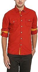 East West Men's Casual Shirt (EW-POP-018_38)