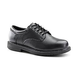 Keuka SureGrip Mens Barton Black Casual Slip Resistant Work Shoes 15W