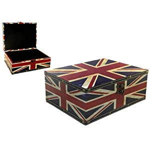 boite et malle avec drapeau anglais deco londres. Black Bedroom Furniture Sets. Home Design Ideas