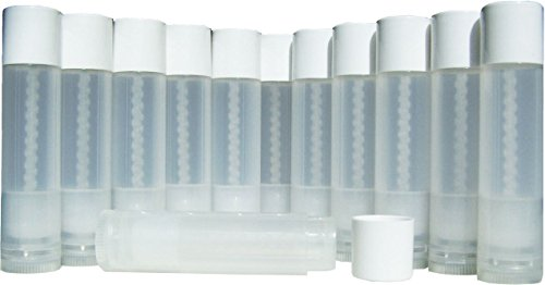 50-High-Quality-Lip-Balm-Containers-Clear-Empty-Tubes-316-Oz-55ml-with-White-Caps-Make-Your-Own-Lip-Balm-DIY