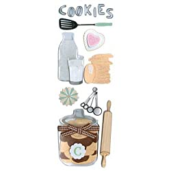 Martha Stewart Crafts Baking Cookies Dimensional Stickers