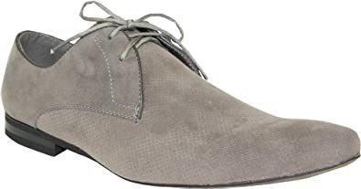BRAVO Men's Dress Shoes BERTO-2 Faux Suede Fashion Oxford with a Round