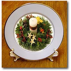 Advent Wreath - 8 Inch Porcelain Plate