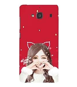 EPICCASE Love Girl Mobile Back Case Cover For Mi Redmi 2 (Designer Case)