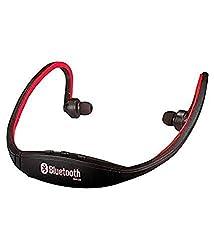 JIYANSHI stylish sports wireless bluetooth red BS19 Compatible with Celkon Millennium Vogue Q455