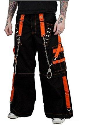 Tripp Men's Bondage Techno Skater Cyber Goth Industrial Baggy Pants (42-44 XXL)