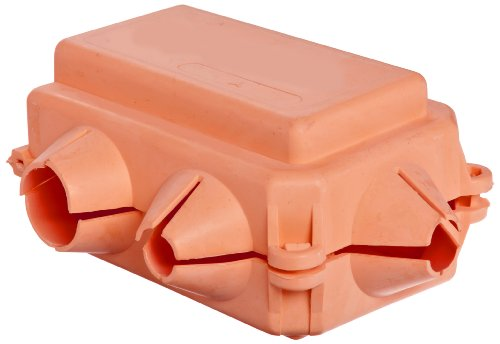 "Morris Products 91122 Flexible Insulating Cover, Orange Cover, 750 Awg, 4-5/8"" Length, 3-7/16"" Width, 2-11/32"" Height"