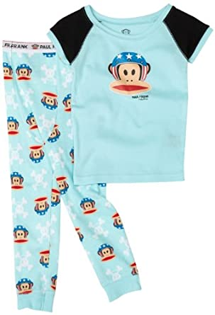 Kids Headquarters Sleepwear  Boys 2-7 Paul Frank 2 Piece Pajama, Blue, 2T