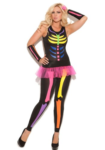 Elegant Moments Womens Scary Bones Skeleton Adult Costume