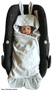 ByBoom® - Manta para envolver al bebé para el período de transición y el verano, para el asiento del bebé en el coche, asiento del Auto, por ejemplo, Maxi-Cosi, Römer, para Buggy, cochecito o cuna marca ByBoom