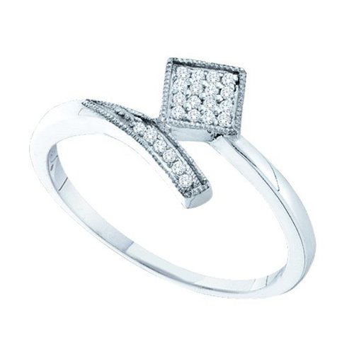 14K White Gold 0.07 ct. Diamond Fashion Ring