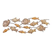 Fish Dance Nautical Metal Wall Art Decor Sculpture 42