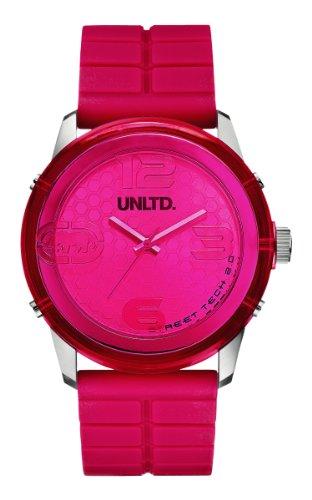 Marc Ecko E11539G1 - Reloj analógico de cuarzo unisex con correa de silicona, color rosa