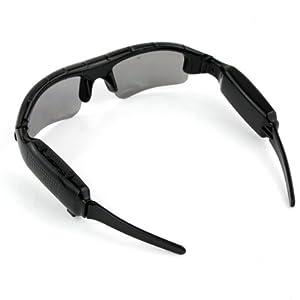 Video Sunglasses Mini HD DV DVR Camera Black + 8GB TF Card With USB Cable