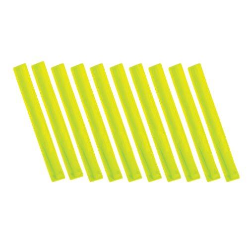 paquet-de-10-haute-visibility-reflechissant-slap-manchettes-bandes