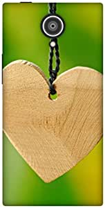 The Racoon Grip wooden hearts hard plastic printed back case / cover for Gionee Elite E7