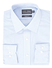 Cotton Rich Quick Iron Bengal Striped Shirt