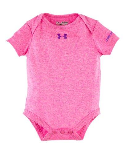 Under Armour Baby-Girls Newborn Comingled Baselayer Bodysuit Footie, Choas Heather/Pride, 3-6 Months front-318398