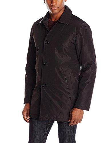 Cole Haan Signature Men's Mid Length Nylon Park Raincoat - Black - S (Cole Haan Cotton Nylon Raincoat compare prices)