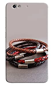 Omnam Three Leather Bracelet Designer Back Cover Case For Gionee S6