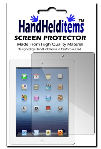 Hhi Anti-Fingerprint, Anti-Glare, Matte Finished Screen Protector For Ipad 4 With Retina Display (Package Include A Handhelditems Sketch Stylus Pen)