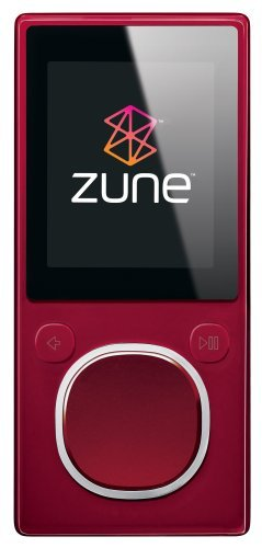 Zune 8 GB Digital Media Player (Red)