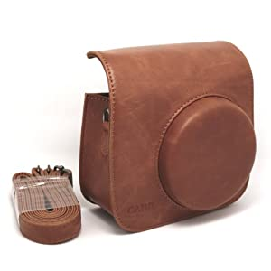CAIUL Vintage PU Leather fuji mini case for Fujifilm Instax Mini 8 Case bag -----Brown