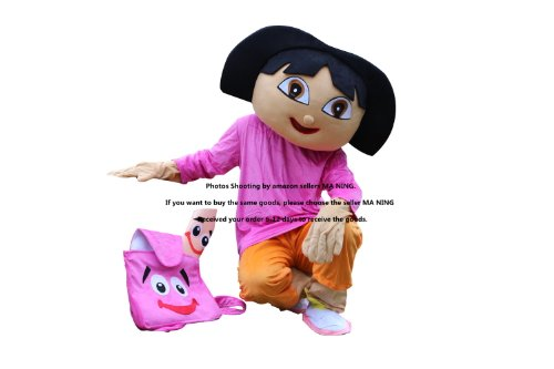 Perfect cute Cartoon gift Girl Dora Adult Size Mascot Costume Beautiful quality