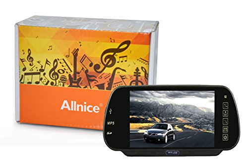 Allnice® 7 Inch Tft-Lcd High Definition Digital Panel Color Car Rear View Reversing Camera Screen Monitor With Bluetooth Mp5 And Fm Transmitter Function With Ir Remote Control - Support 2 Video / Audio Input And Mmc / Ms / Sd Card & Usb Flash Disk