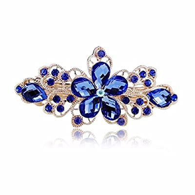 Sankuwen Flower Design Rhinestone Hairpin Clip Accessories