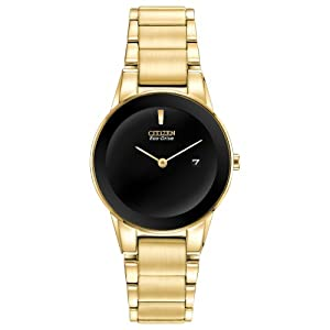 Citizen Women's GA1052-55E Axiom Analog Display Japanese Quartz Gold Watch