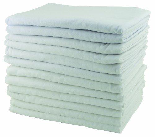 """Ecr4Kids Rest Time Blanket, 58 X 36"""", White, 12-Pack front-1004270"""