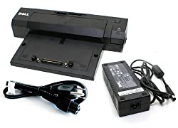 Genuine Dell E-Port Replicator PR02X Docking Station and Port Replicator With 130W PA Power Adapter For Dell E Series Laptop/Notebooks Latitude E4200 / E4300 /E5400 / E5500 / E6400 / E6400 ATG / E6500 Dell Precision M4500/ M4600 / M6400 / M6500 /M6600 Del