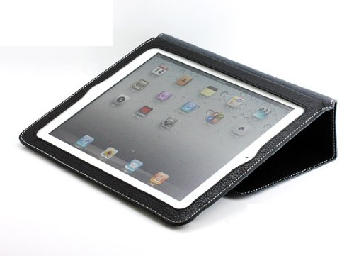 Bear Motion ® Premium Synthetic Leather Case for iPad 2 2nd Generation Folio with 3-in-1 built-in Stand for Apple iPad 2