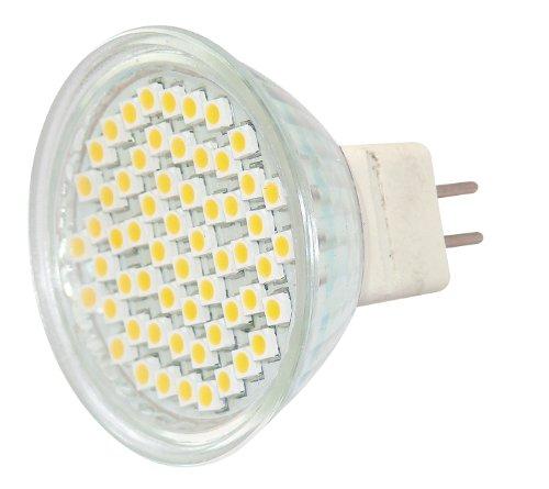Blanko LED-Reflektor GX 5.3 60 LEDs warmweiß, MR 16 BLA-GX5.3-60-WW