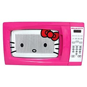 Hello Kitty 0.7 Cubic Feet 700 Watt Microwave - MW-07009
