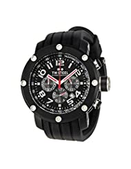 TW Steel Men's TW134 Grandeur Tech Black Rubber Strap Watch