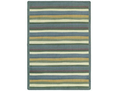 "Joy Carpets Kid Essentials Active Play & Juvenile Yipes Stripes Rug, Soft, 7'8"" x 10'9"""