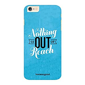 HomeSoGood Nothing Is Out Of Reach Blue 3D Mobile Case For iPhone 6 Plus (Back Cover)