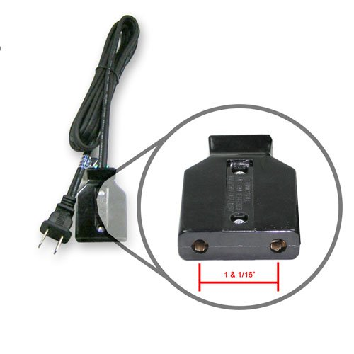 Power cord, 6', 1-1/16' spacing, fits roaster ovens.