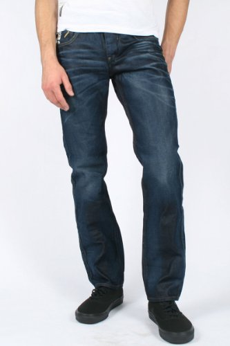 G-Star Raw - Mens Attacc Low Straight Leg Jeans in Dark Aged, Size: 28W x 30L, Color: Dark Aged