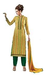 Om Creation Multicolor Embroidered cotton Salwar Suit HS7