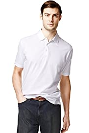 XXXL Pure Cotton Plain Polo Shirt with Stay New™